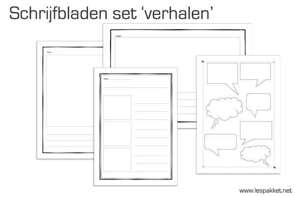 Uitgelezene Schrijfbladen set: verhalen schrijven | JufBianca.nl YV-15