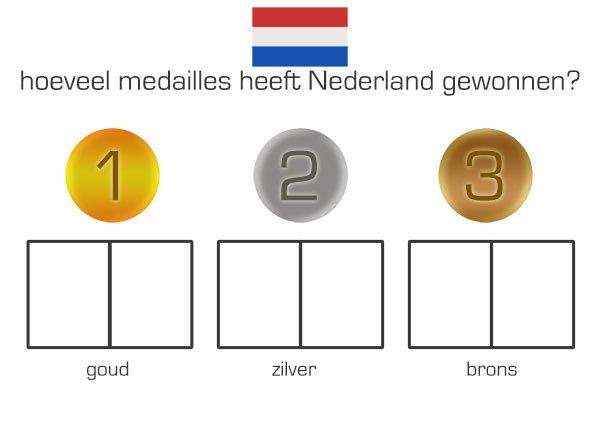 medailles tellen - Olympische Spelen - Juf Bianca