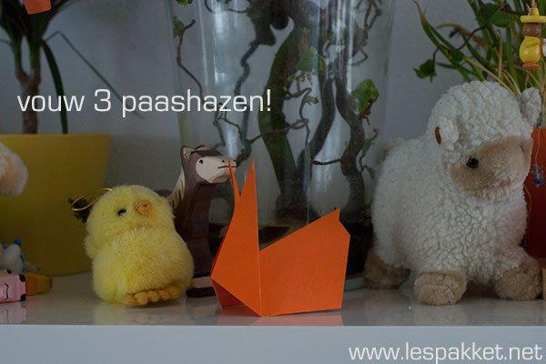 vouw een paashaas - Lespakket