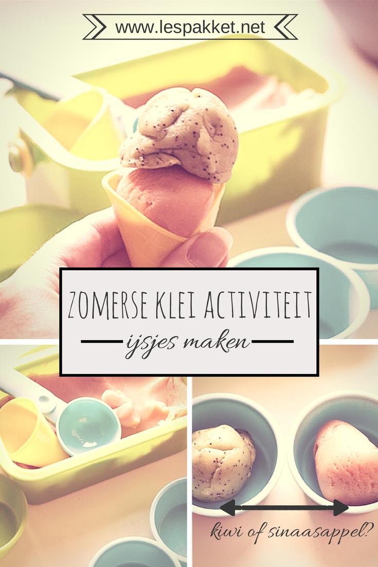 Zelf klei maken - ijsjes voor het thema zomer - Lespakket