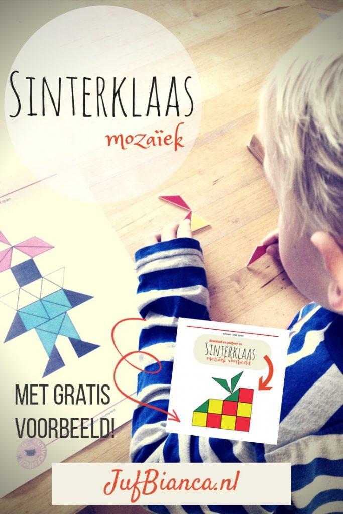 Thema Sinterklaas - Mozaiek voorbeelden met gratis download - Juf Bianca