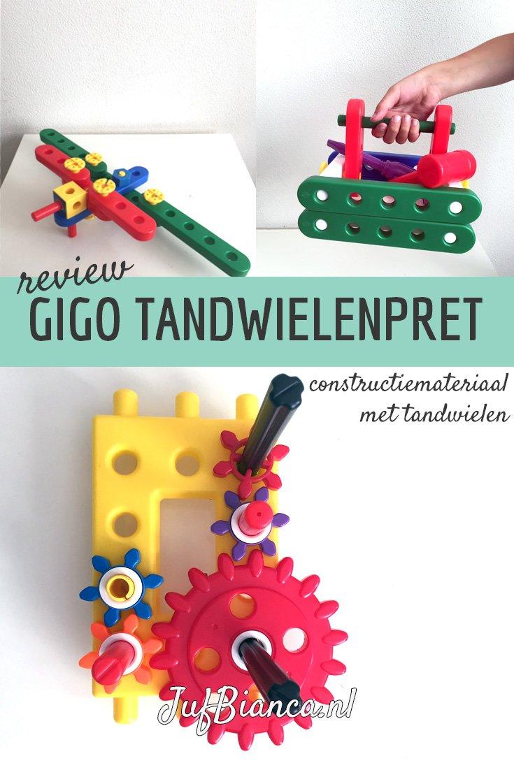review - Gigo tandwielenpret - constructiemateriaal met tandwielen- Juf Bianca