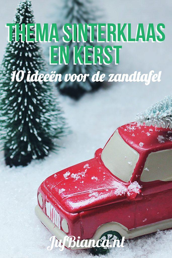 Thema Sinterklaas en Kerst - 10 ideeën voor de zandtafel - Juf Bianca