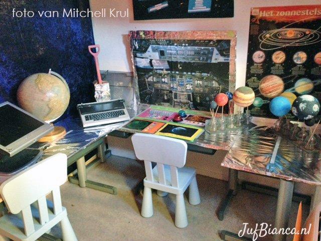 Thema het heelal - hoeken inrichten - door Mitchell Krul - foto 3 - Juf Bianca