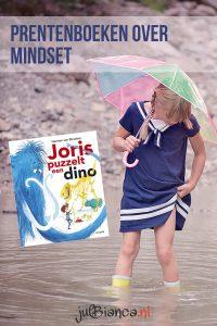 Prentenboeken over mindset - Joris puzzelt een dino - Juf Bianca