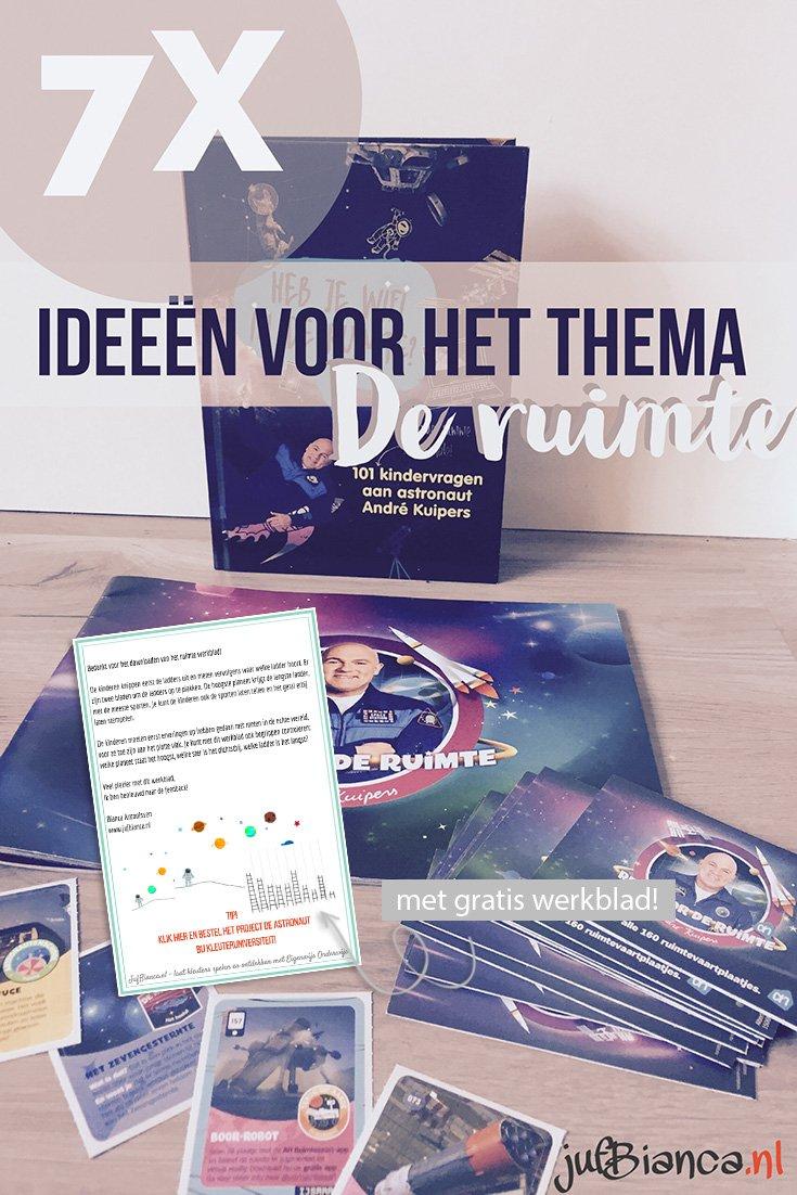 7x ideeën voor het thema de ruimte - met gratis werkblad - Juf Bianca