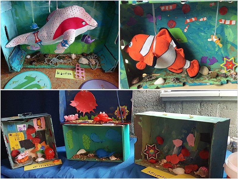 Themahoek inrichten door Wendy - Juf Bianca - het aquarium