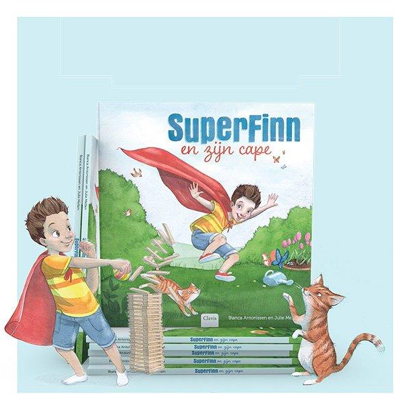 SuperFinn en zijn cape - bestel bij de boekhandel - Juf Bianca