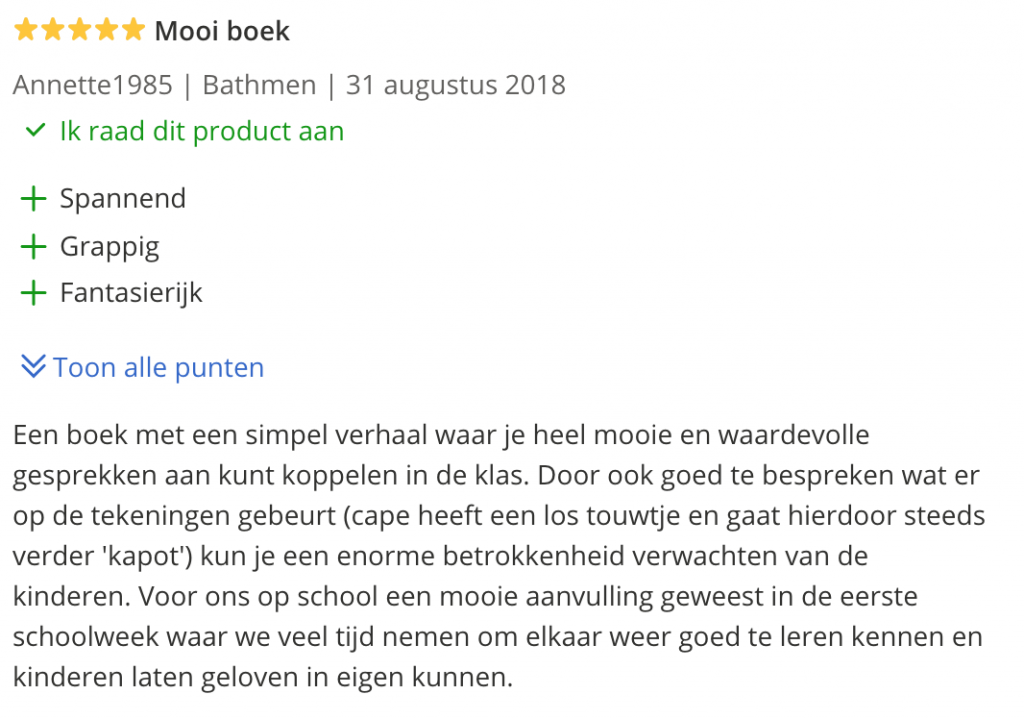 SuperFinn en zijn cape - review - Juf Bianca