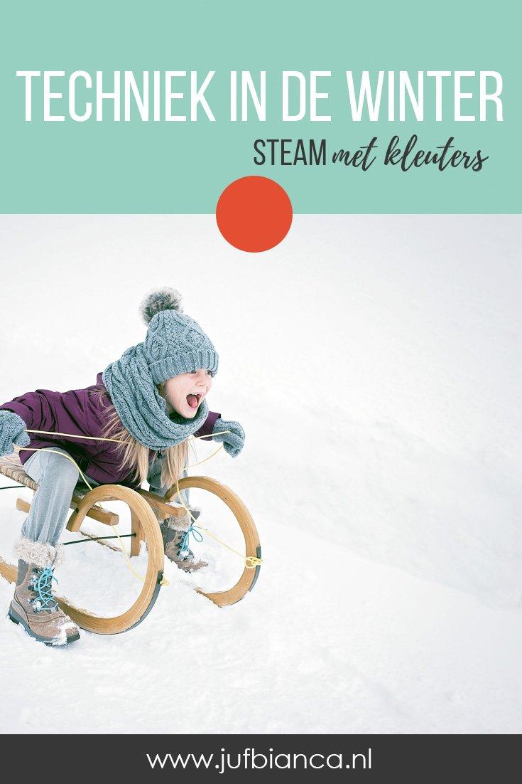 Techniek in de winter - STEAM met kleuters - Juf Bianca