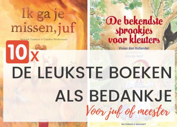 10x De leukste boeken als bedankje voor juf of meester - Juf Bianca