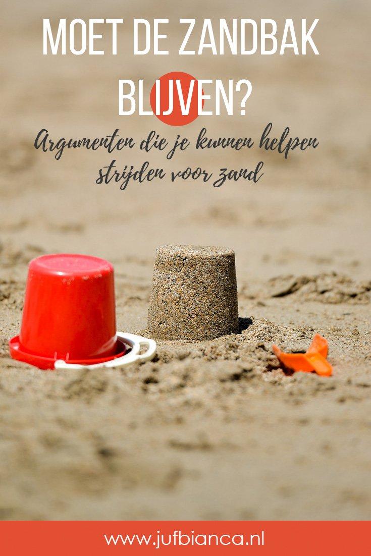 Moet de zandbak blijven - argumenten die je kunnen helpen strijden voor zand - Juf Bianca