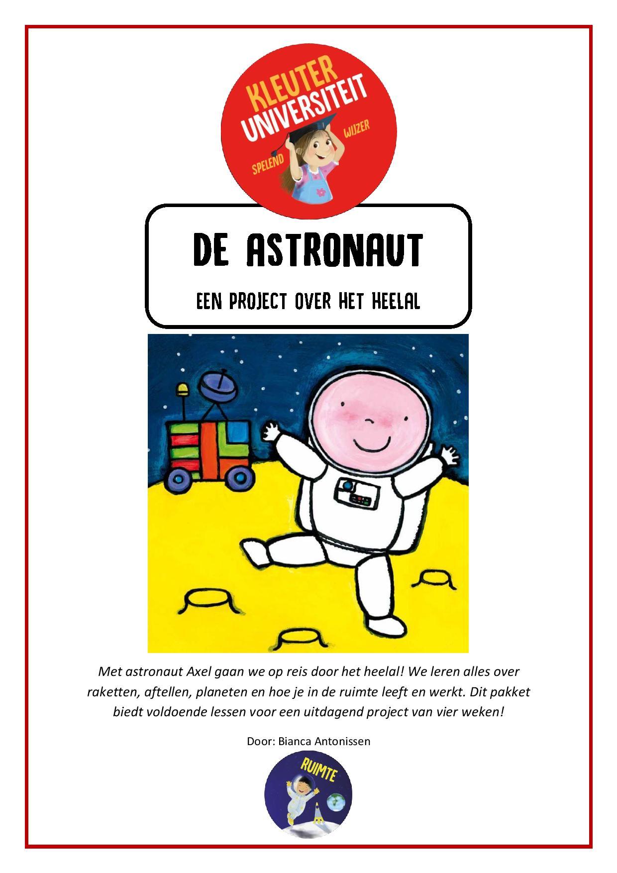Astronaut - project van Juf Bianca bij Kleuteruniversiteit