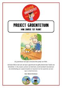 Project groentetuin - Juf Bianca bij Kleuteruniversiteit