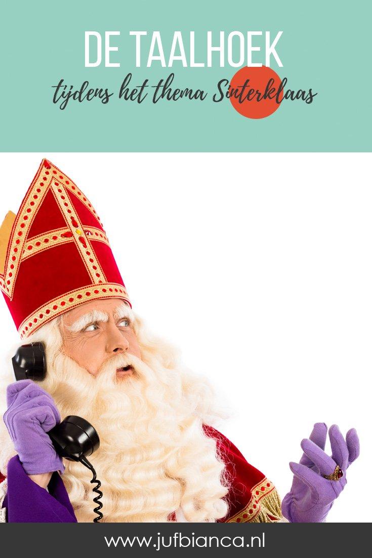 De taalhoek tijdens het thema Sinterklaas - Juf Bianca